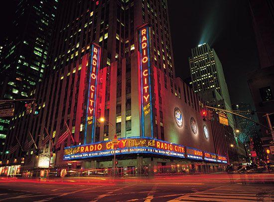Radio City Music Hall Night Via Muralsyourway Com Radio City Radio City Music Hall Murals Your Way