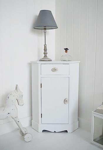 Merveilleux White Corner Bedside Cabinet