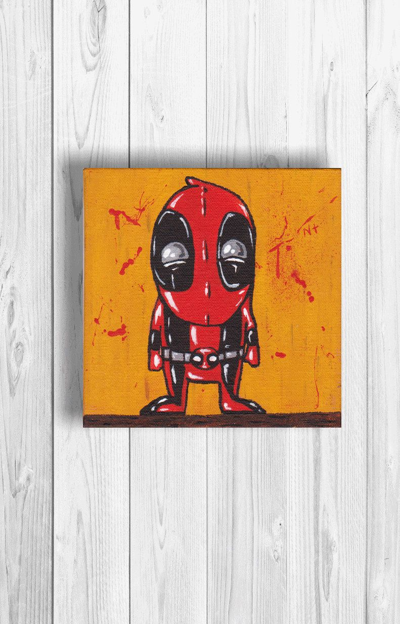 Marvel Wall Art the ultimate spiderman - acrylic painting on canvas - marvel wall
