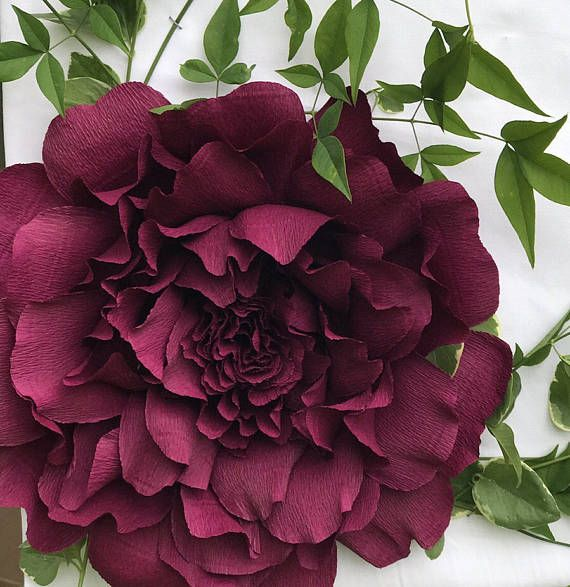 Crepe Paper Peony-Loose and fluffy peony-Wedding flowers-Giant