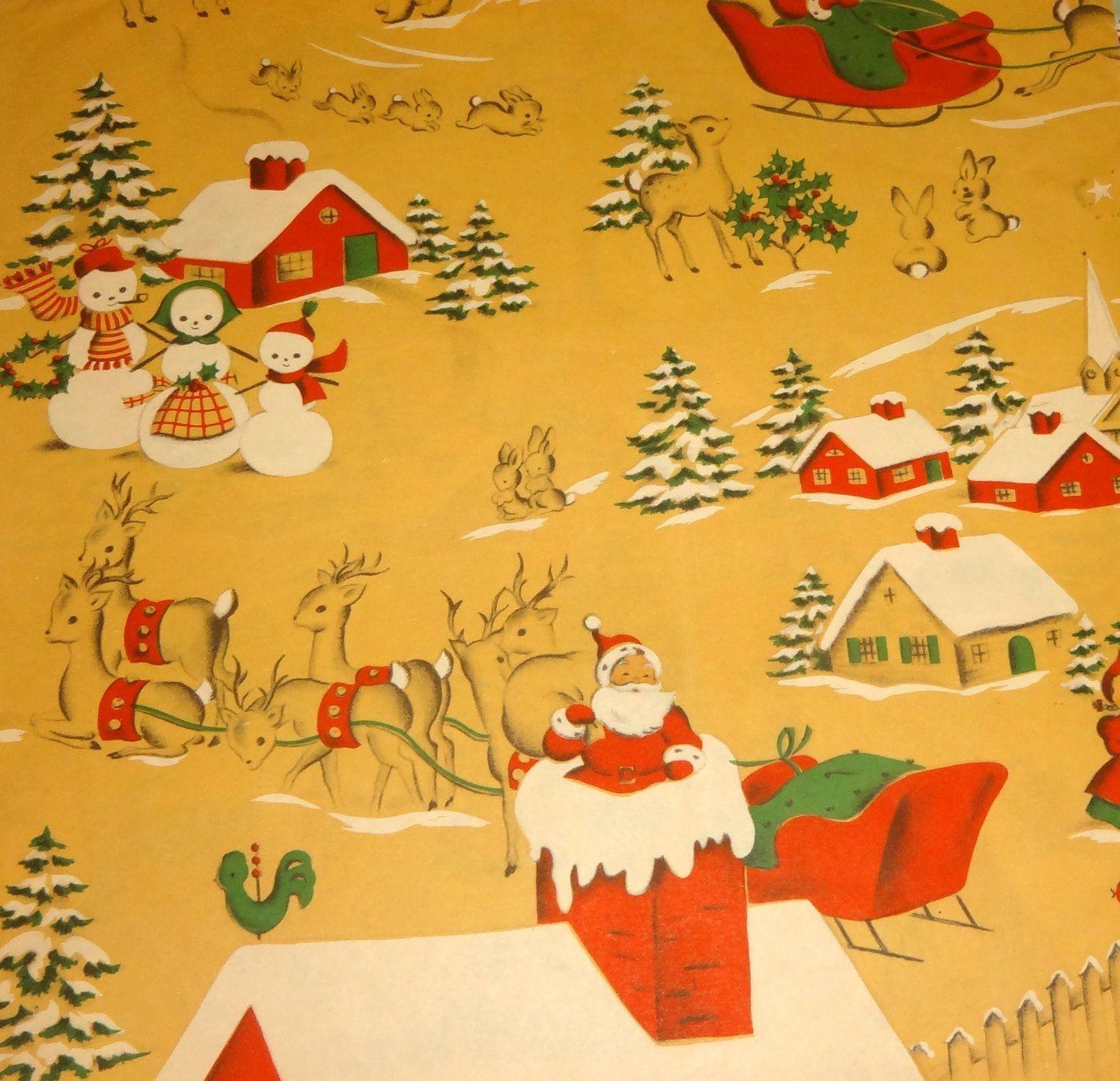 christmas gift vintage wrap Norcross