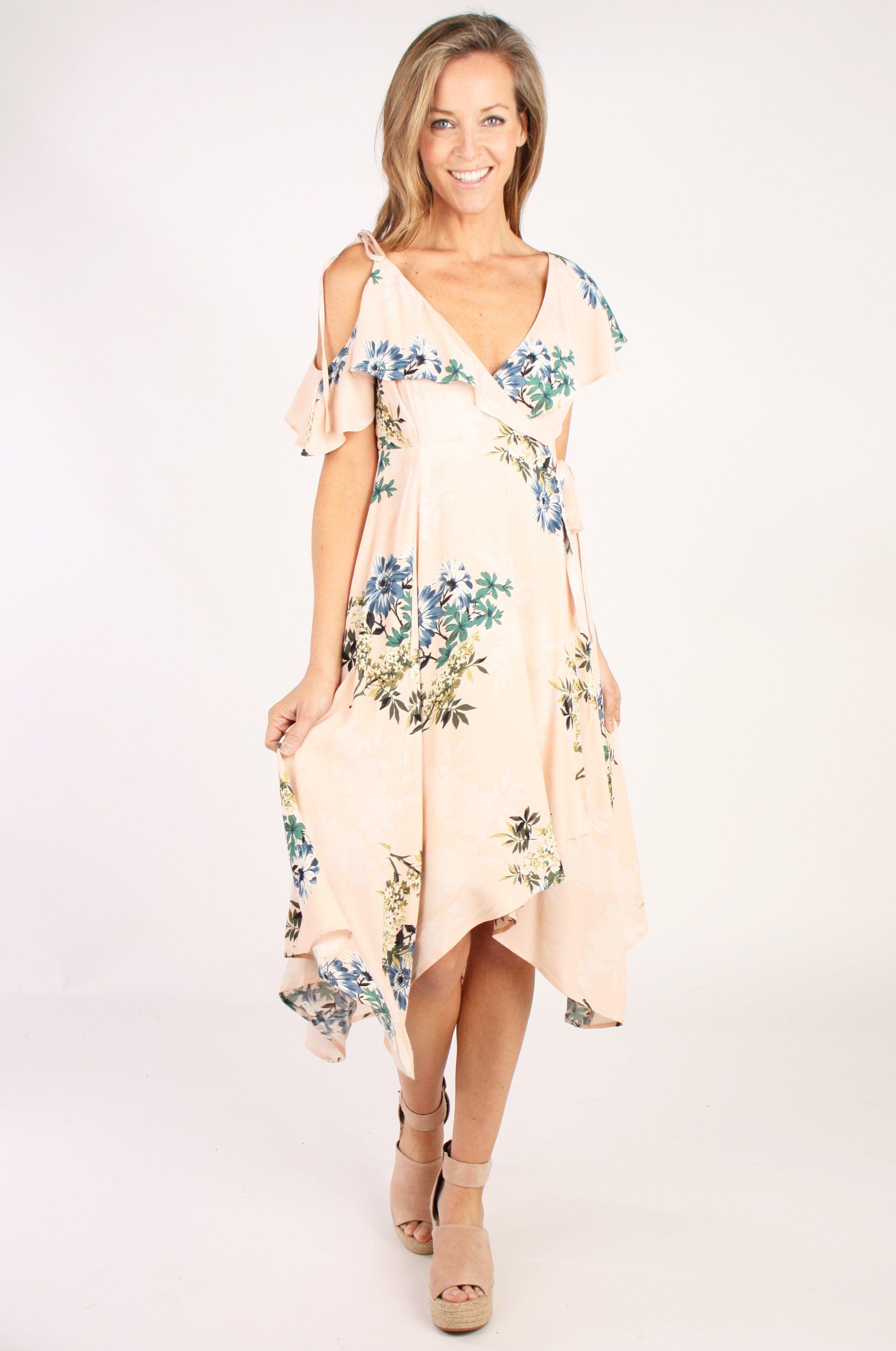 Mushroom Lace Frill Cold Shoulder Dress in 2020 | Dresses