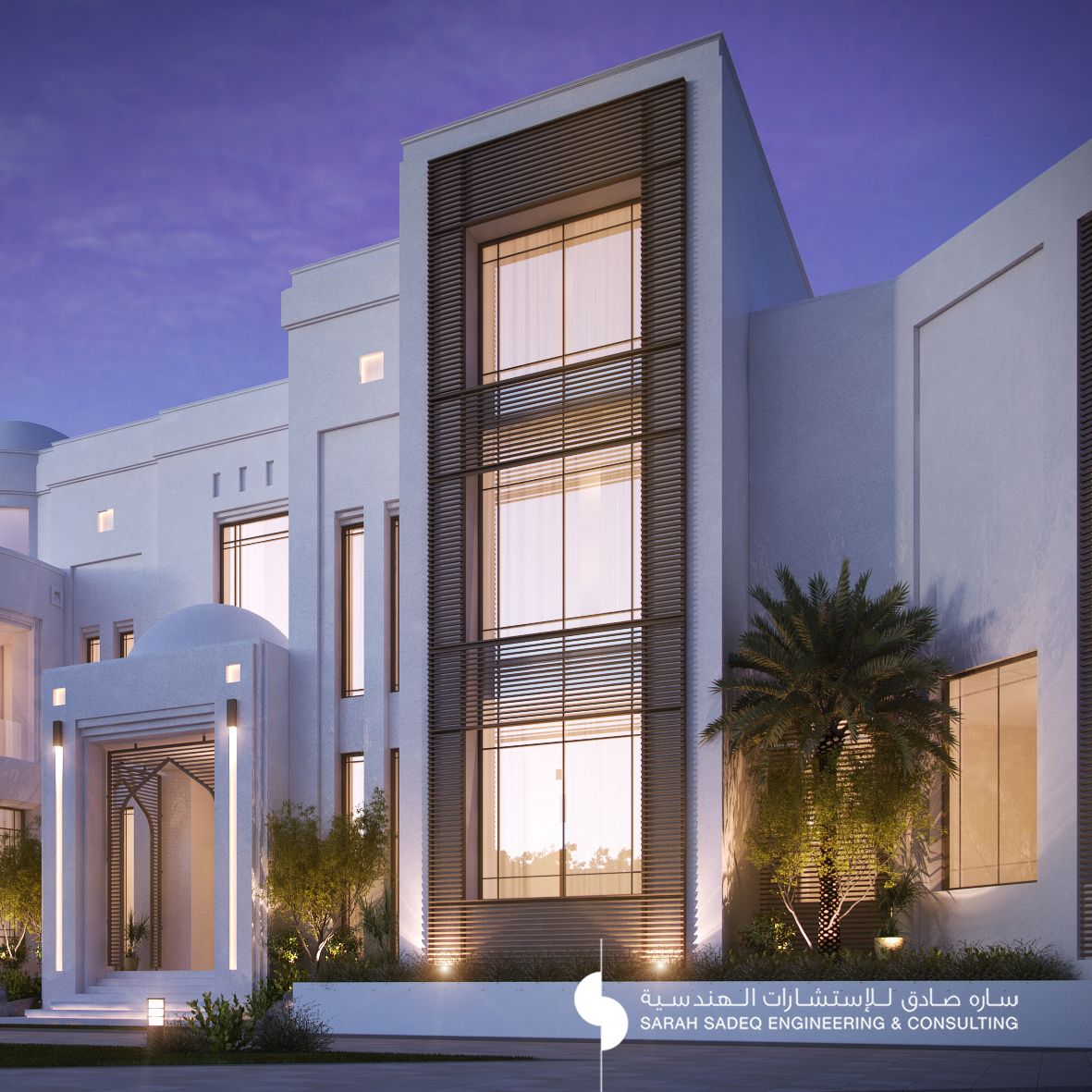 Private villa 2000 m kuwait sarah sadeq architectes for Architecture villa design