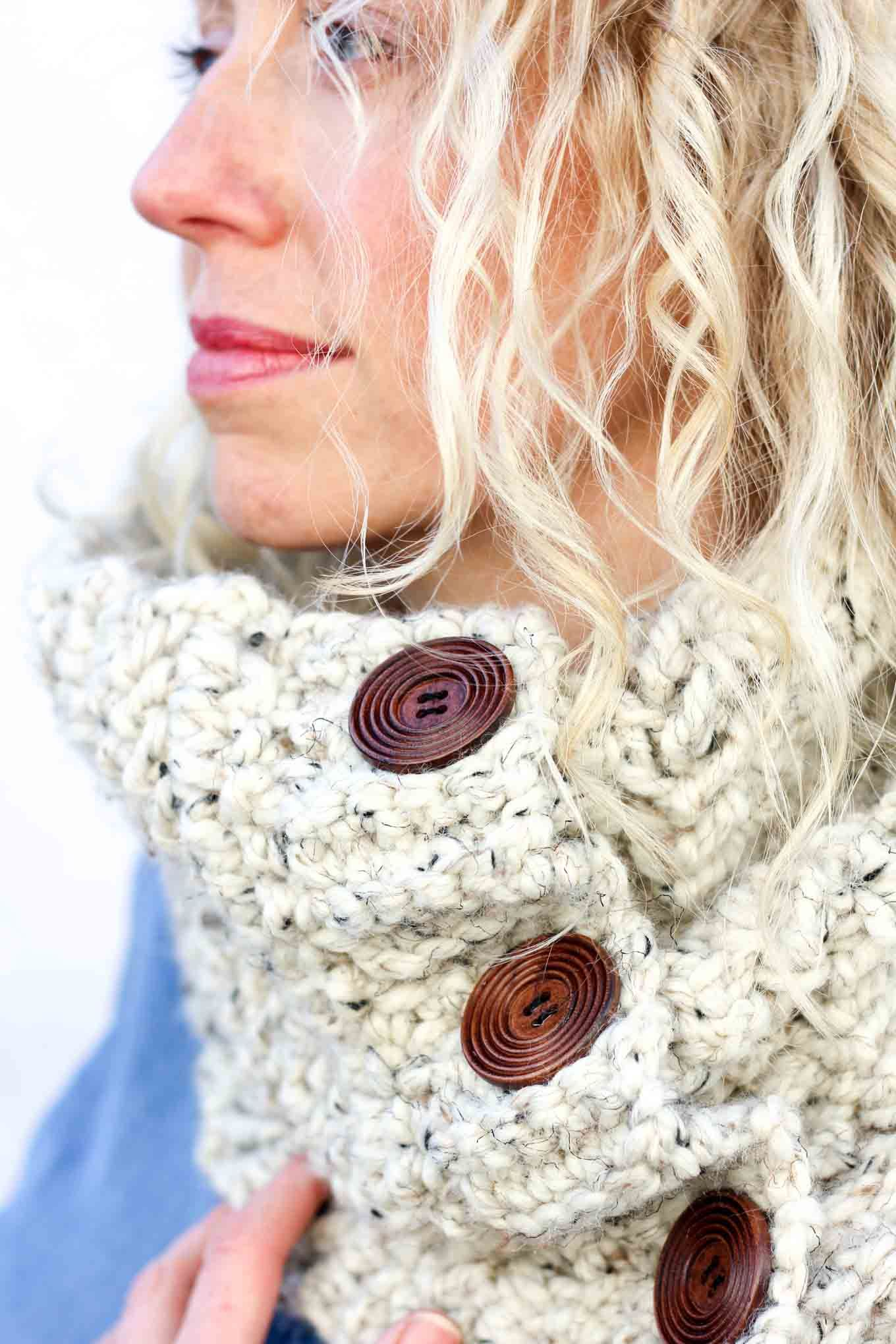 Free Crochet Cowl Pattern: | Manuali | Pinterest | Damas