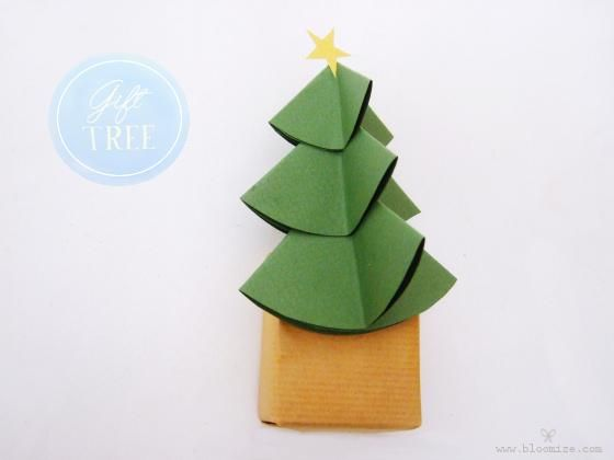 Diy Origami A Gift Wrapped Under A Tree Diy Origami Diy Craft Origami Gift Box Tree Gift Gift Wrapping