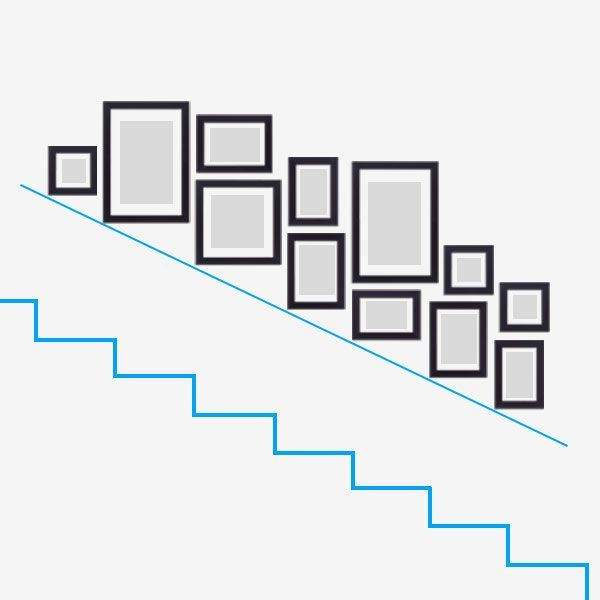 Photo of Design the stairwell with photo frames from Photolini – My Blog