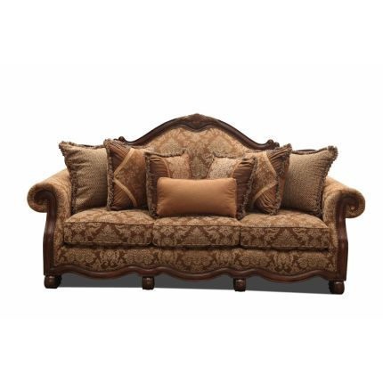 90 Inch Brown Upholstered Sofa Upholstered Sofa Couches Living Room Upholster
