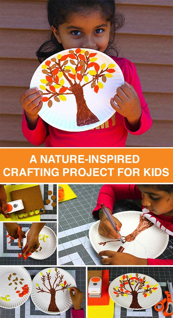 Fall colors inspire a nature-themed DIY project! In six easy steps, you and your little ones can create a craft to celebrate the start of the fall season. A little something extra to add to your seasonal décor.