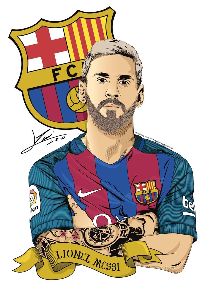 Pin De Alexis Em Barcelona Illustration Futebol Arte Jogadores