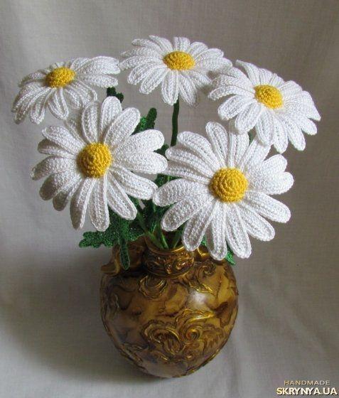 вязаные ромашки Crochet Ideas вязаные цветы цветок крючком вязание