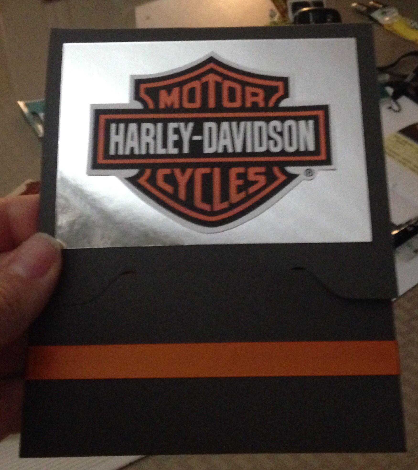 Harley Davidson gift card holder - orange and black By jkiisel ...