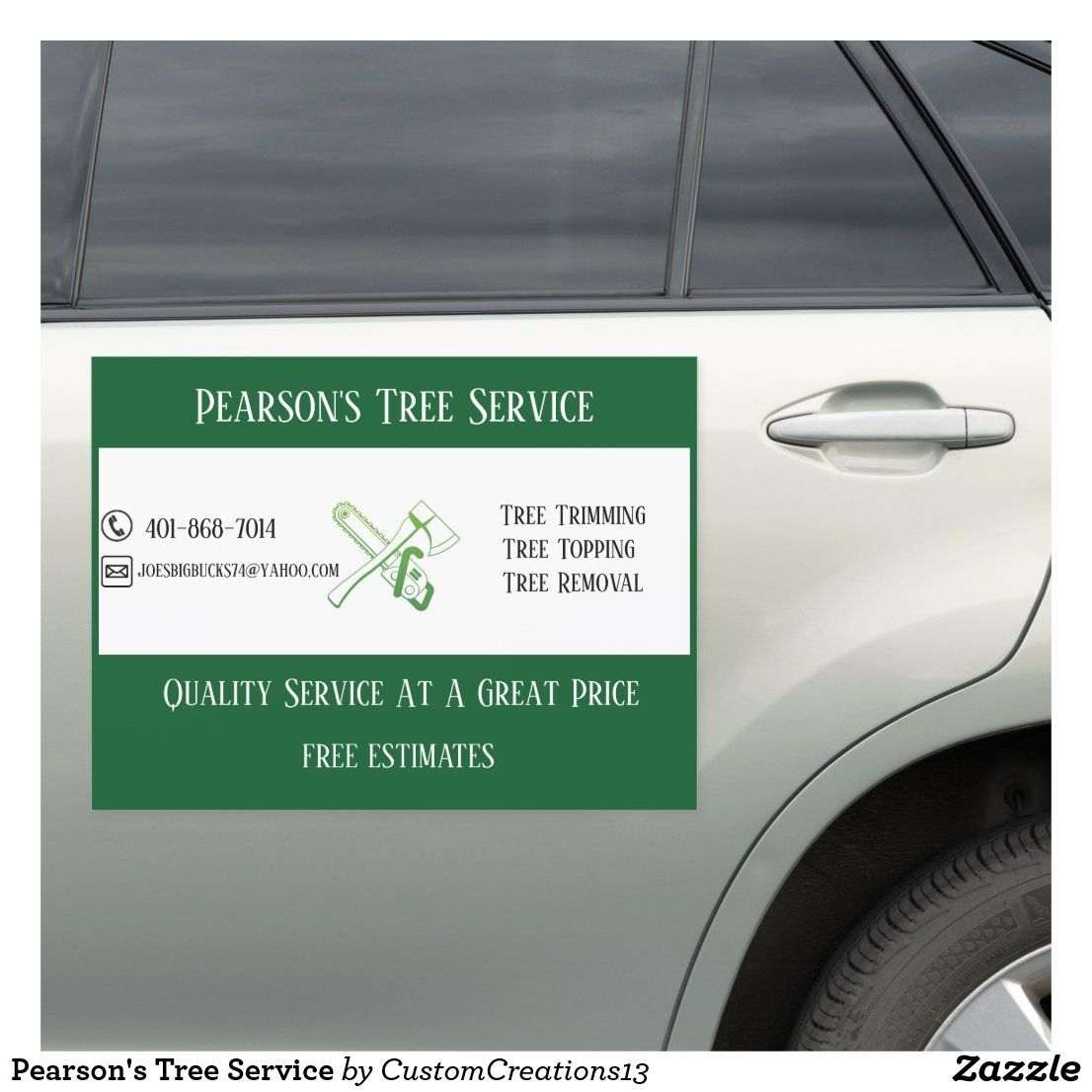 Pearson's Tree Service Car in 2020