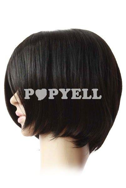 perruque noir Perruque femme de 40cm noir courte