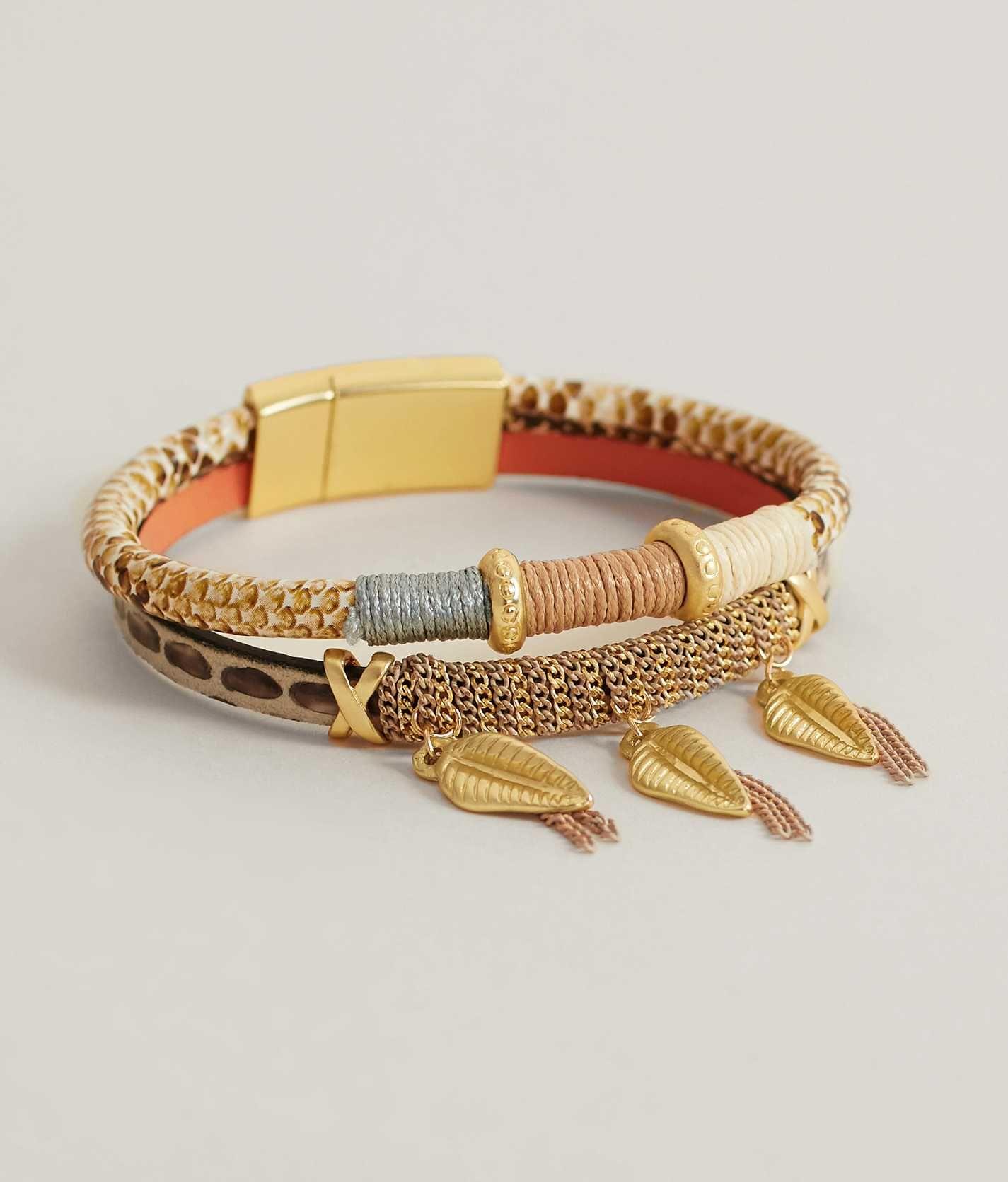 Bke tarot bracelet womenus accessories in cream gold buckle