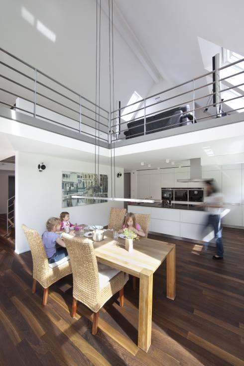 Raffiniertes Haus Im Modernen Look | Offene Wohnküche, Wohnküche