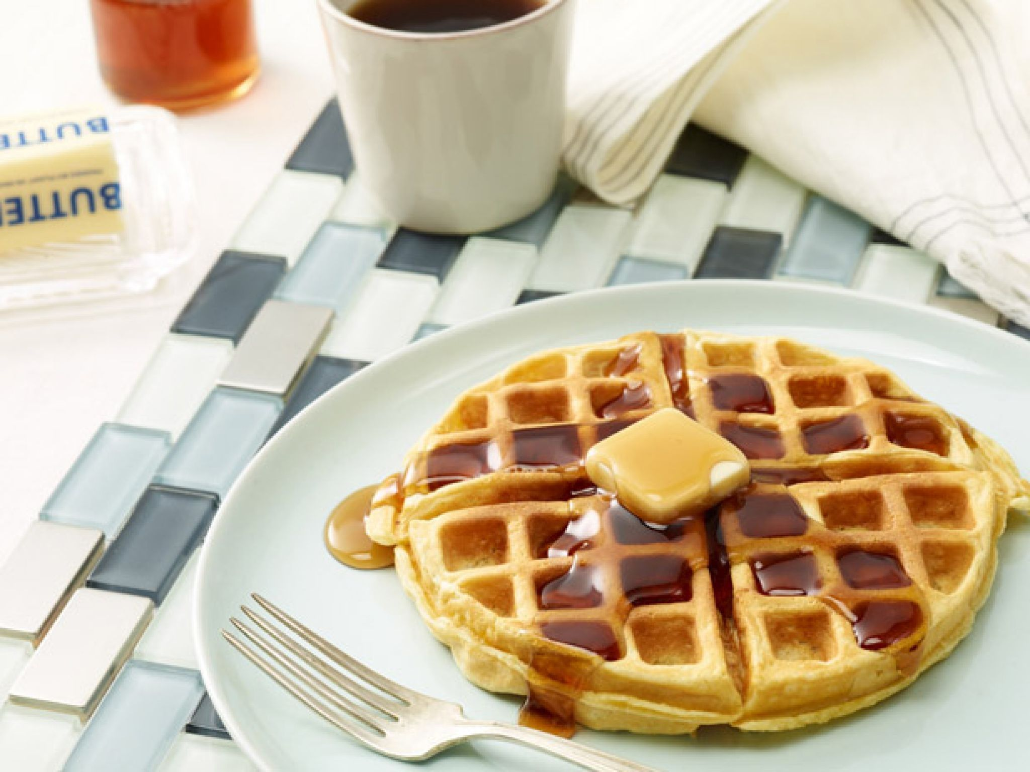 Cottage Cheese · Oat Waffle Recipe From Alton Brown ...