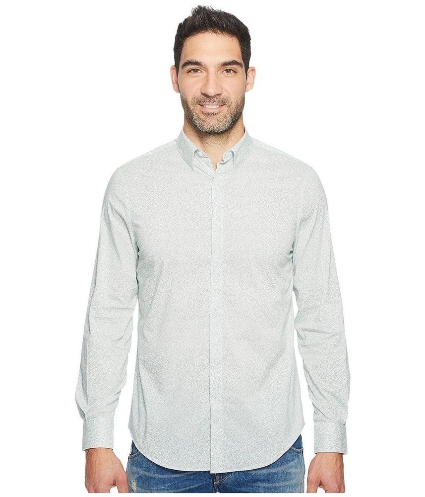 Perry Ellis Mens Travel Luxe Micro Paisle Bright White Smal 2xlarge Large New Ebay Mens Travel Mens Tops Perry Ellis
