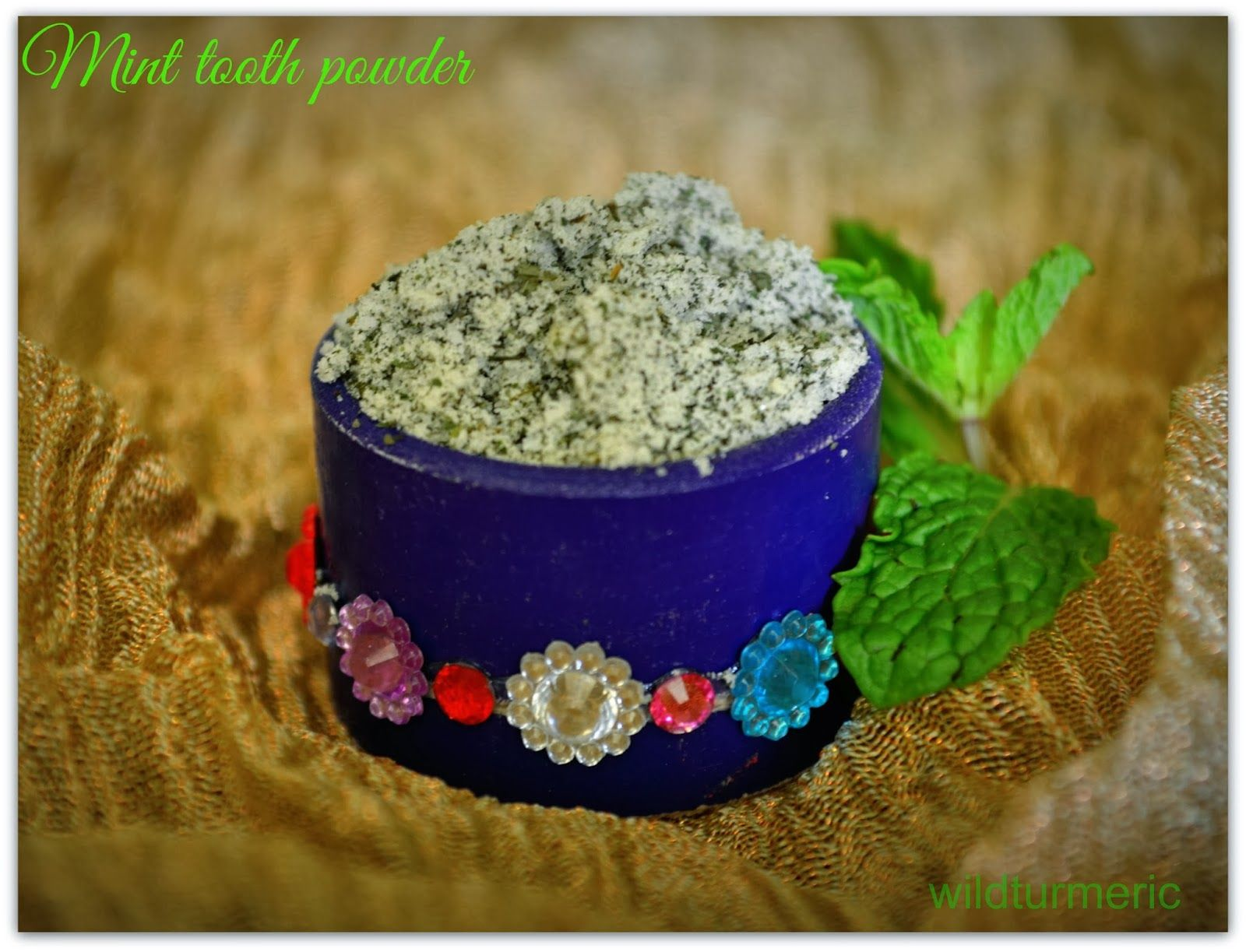 Diy homemade salt mint tooth powder recipe with images