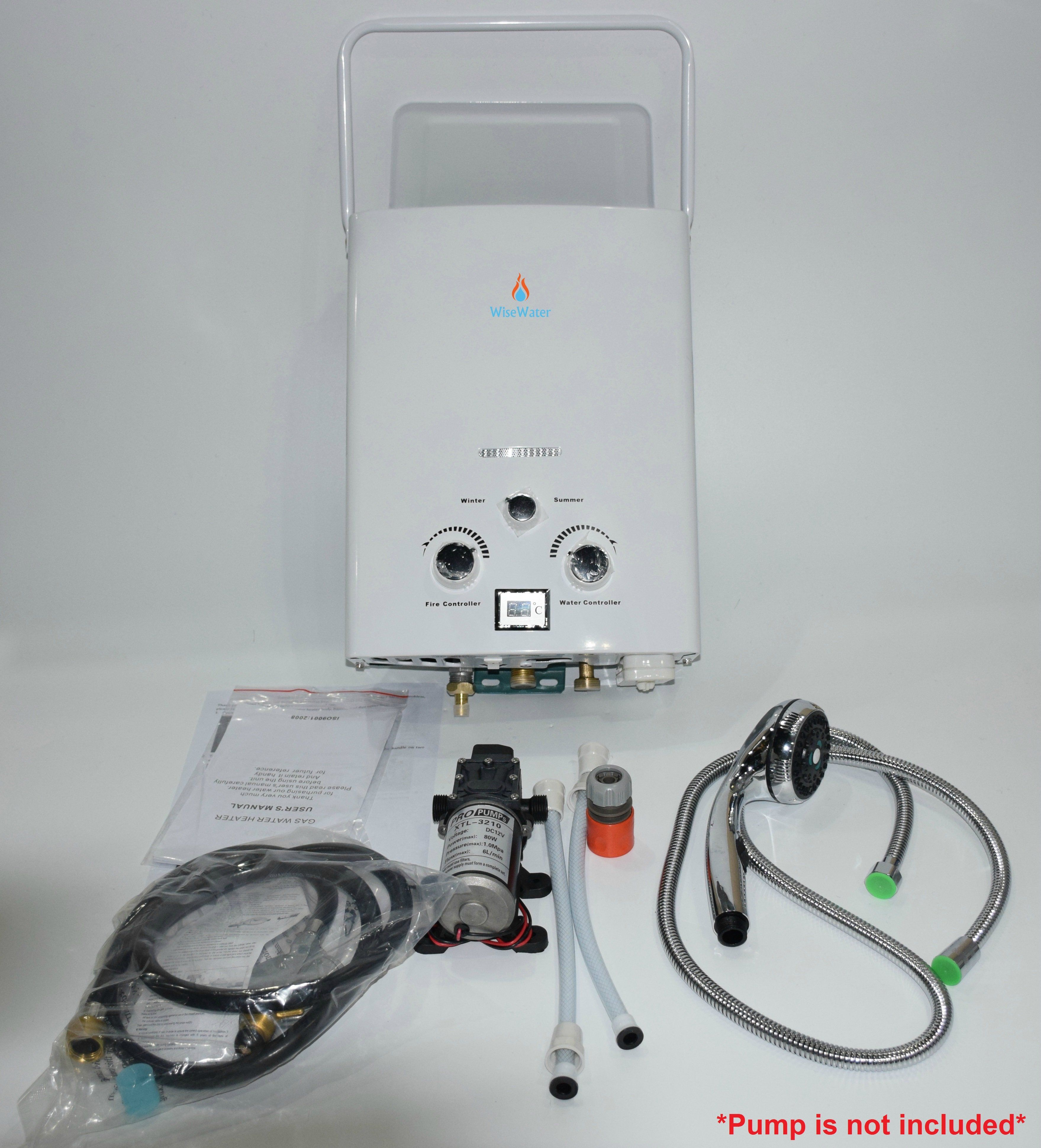WiseWater Outdoor Portable Tankless Propane Gas Water
