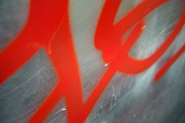 James Bond by @Baywhale #flickr #red #perspex #graffiti