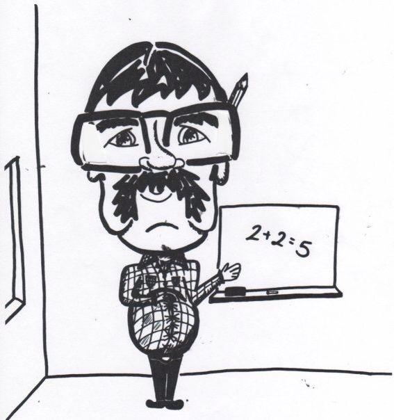caricature of my old math teacher