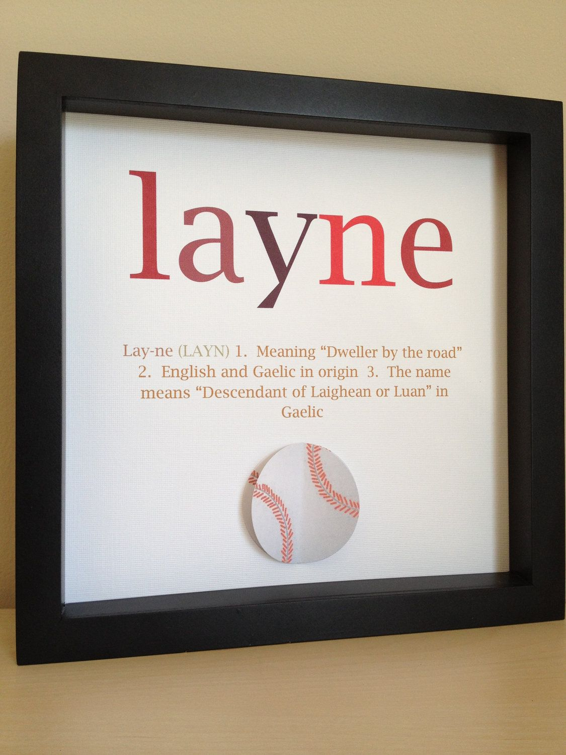 Name Meaning Art, 3D Paper Art, Customize with your colors