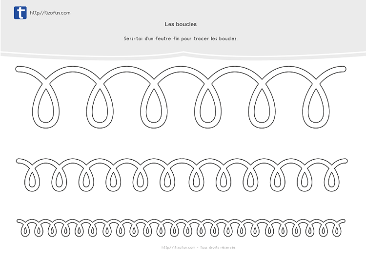 fiche a plastifer graphisme maternelle les boucles a l envers 03 graphisme gs cp pinterest. Black Bedroom Furniture Sets. Home Design Ideas