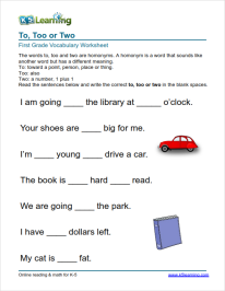 33++ Math vocabulary worksheets 1st grade Top