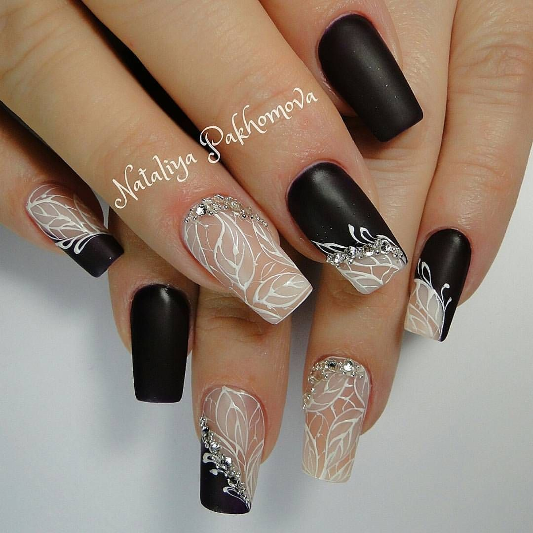 Алёна Плясецкая | Nägel | Pinterest | Manicure, Black nails and Mani ...