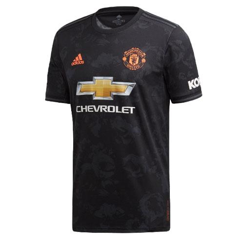 19 20 Manchester United Third Away Black Jerseys Shirt