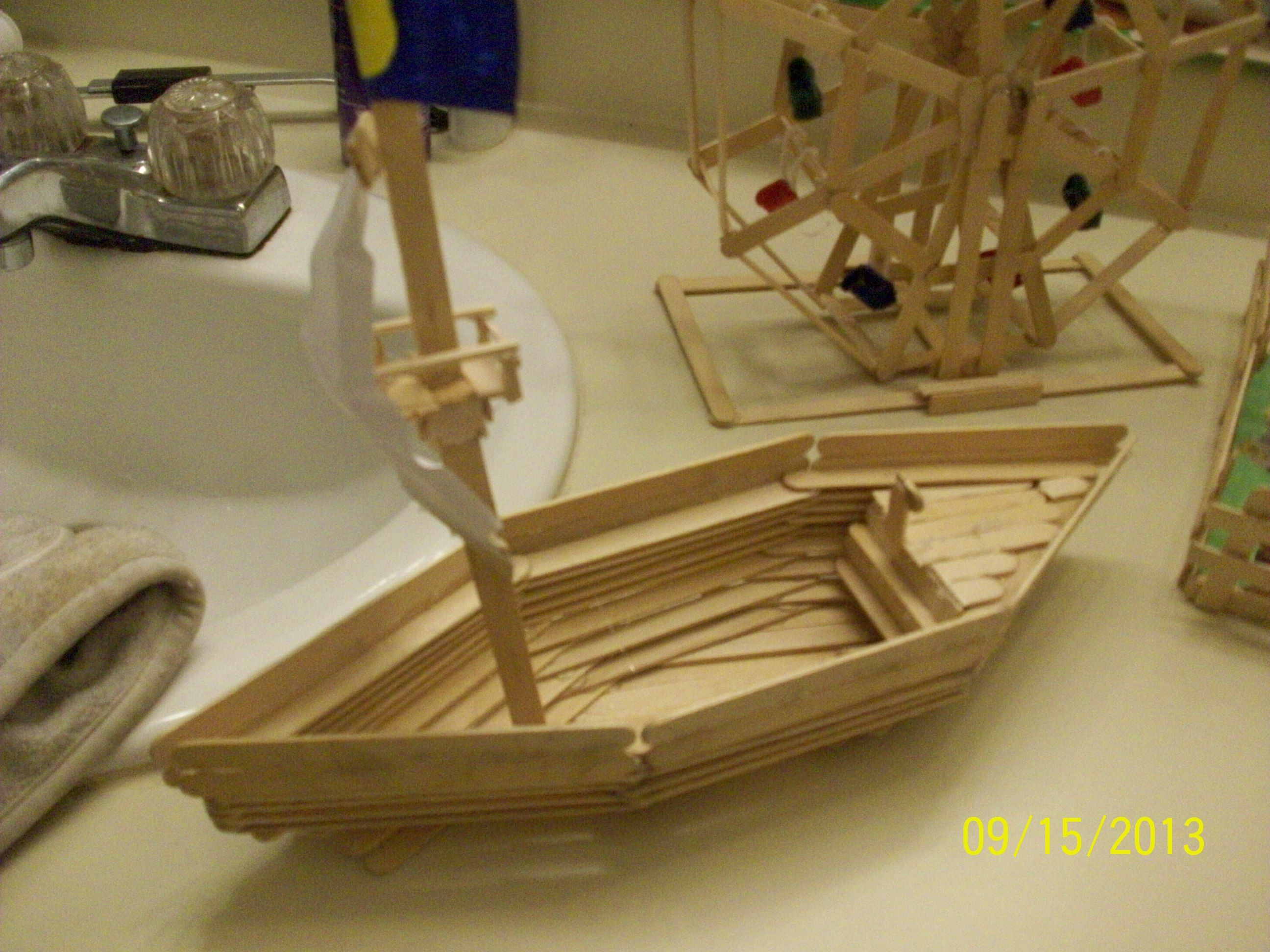 How To Make A Pirate Ship Out Of Craft Sticks