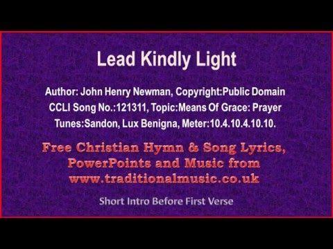 Lead Kindly Light   Hymn Lyrics U0026 Music   YouTube