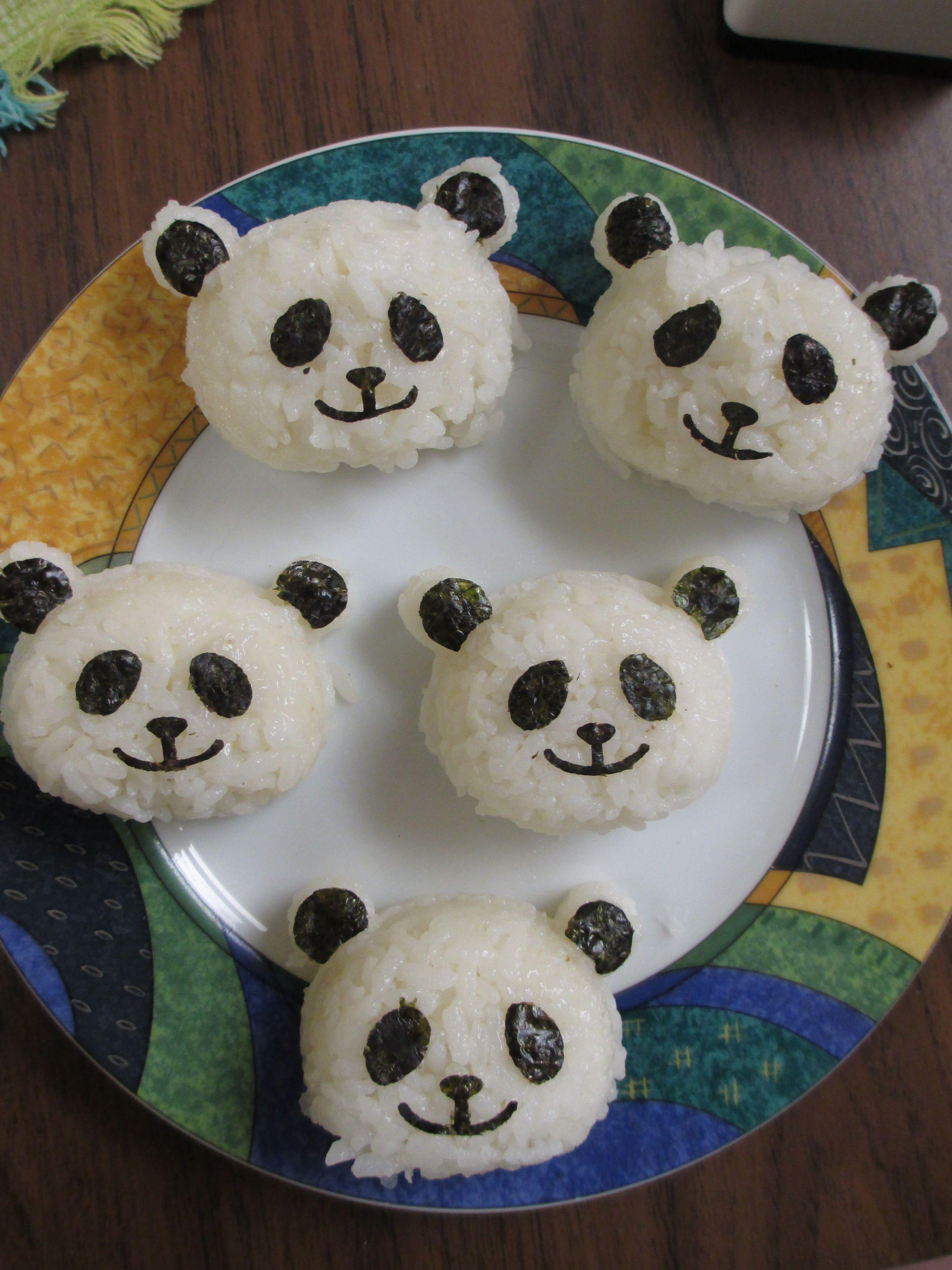 Panda Rice Balls Made By Bambi