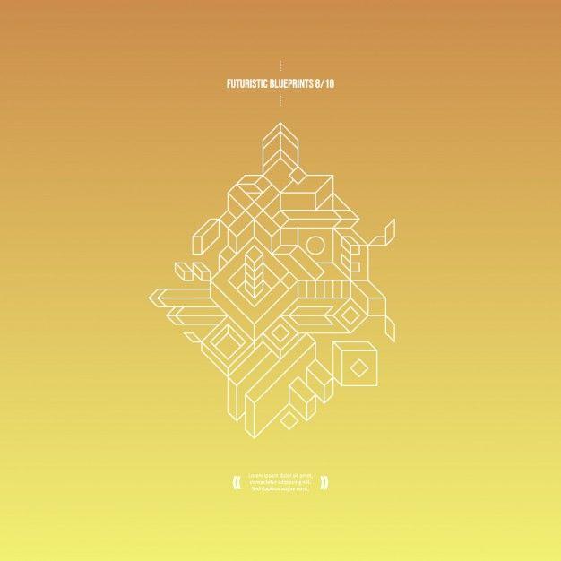 Résumé de fond avec gradient jaune et composition 3D Composition - new blueprint resumes & consulting reviews