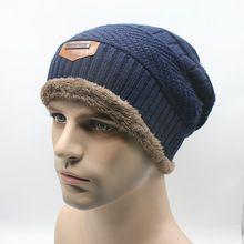 Hombre caliente Beanie Hat 2015 invierno tejer sombrero de lana para Unisex Caps…
