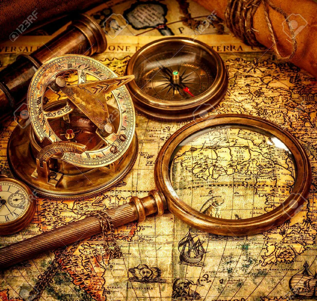 Old Map Old Map Map Compass Ancient World Maps