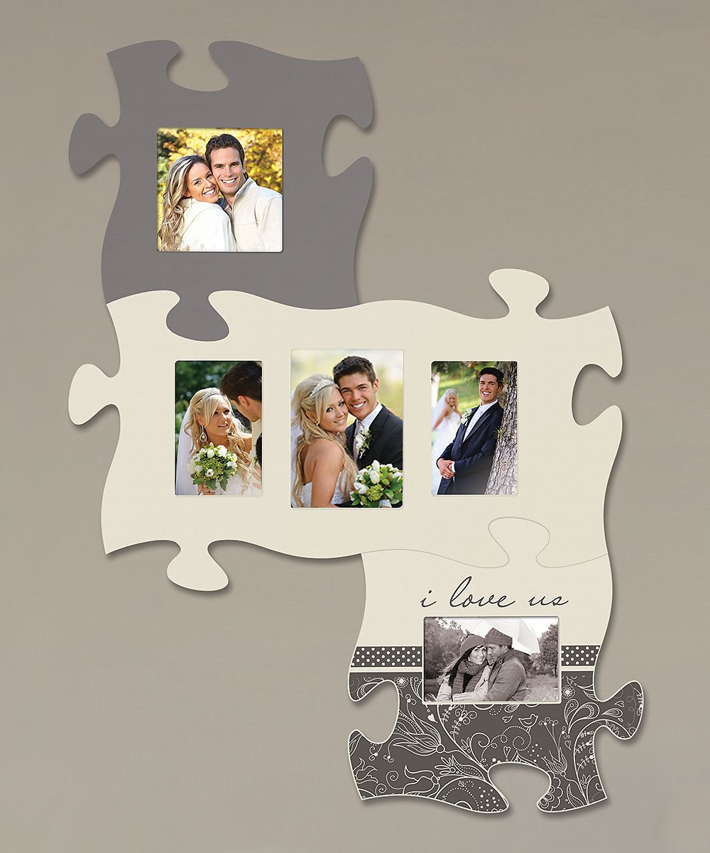 I Love Us\' Puzzle Photo Frame Set - this is super cute and notice ...