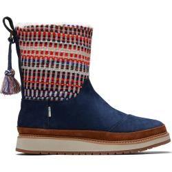 Toms Blaue Suede Nepal Tweed Makenna Stiefel Für Damen - Größe 35.5 TomsToms #womenswinterfashion