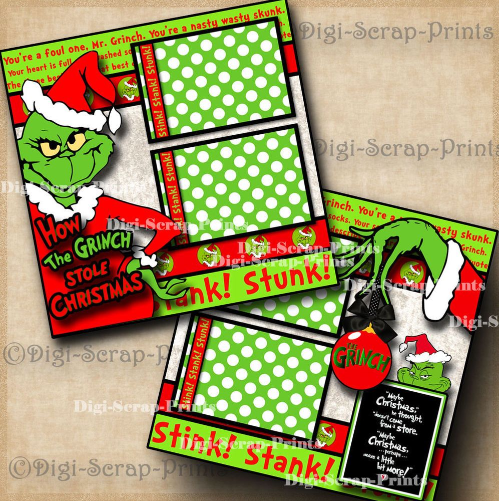 PREMADE SCRAPBOOK PAPER PIECING-FOR LAYOUT-ALBUM-CHRISTMAS-HOME FOR THE HOLIDAYS