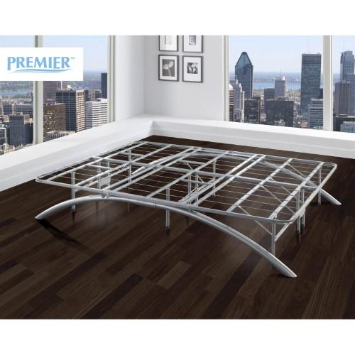 This Sleek Silver Premier Ellipse Arch Platform Bed Frame Provides