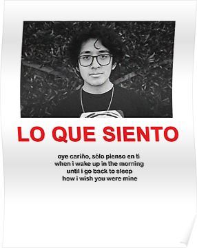 'CUCO LO QUE SIENTO MERCH' Poster by villainelle