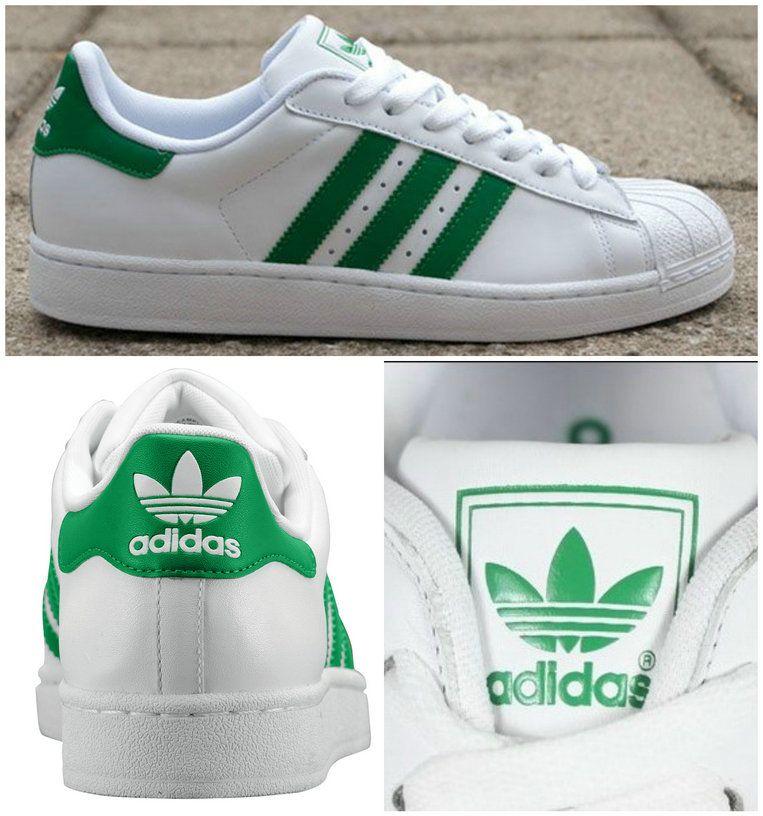 Adidas Superstar II  Green Stripes   Originals  Green  44c23298e6