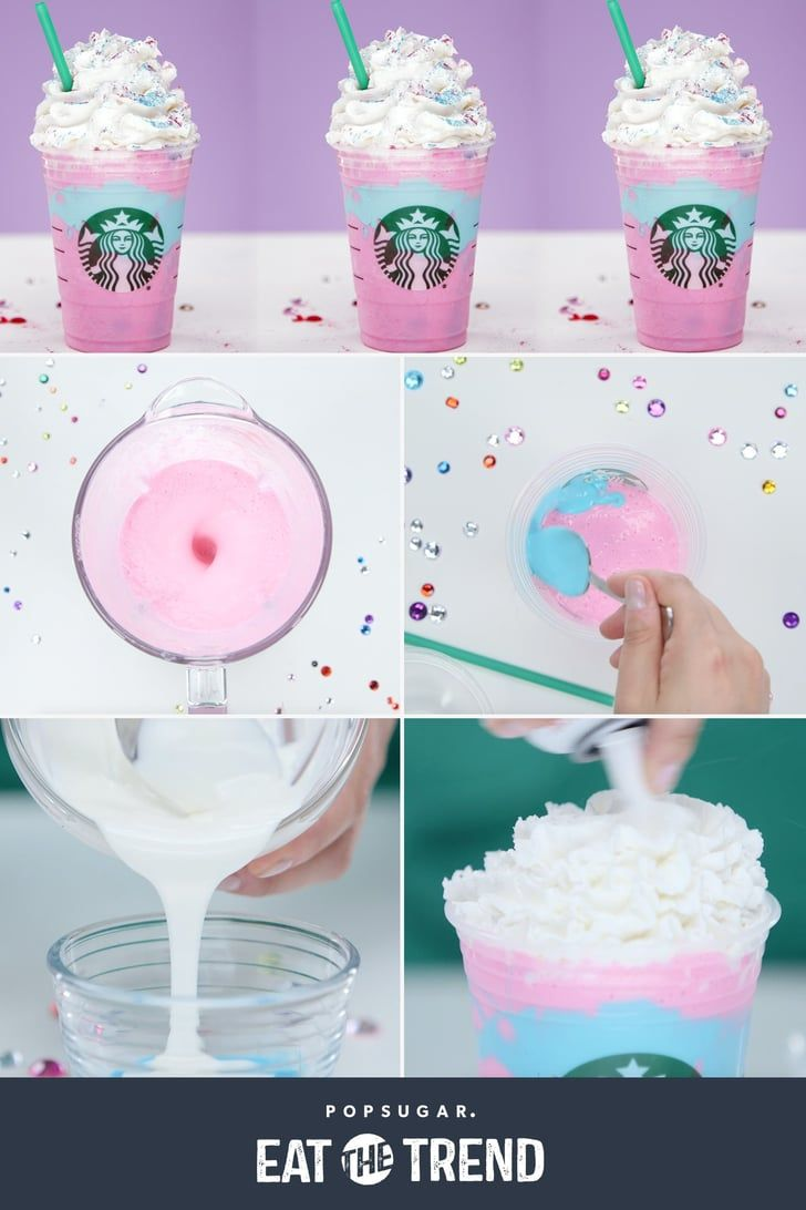 We Hacked Starbucks's Unicorn Frappuccino - Starbucks unicorn frappuccino recipe, Starbucks drinks recipes, Frappuccino recipe, Frappuccino, Starbucks drinks, Popsugar food - Chances are you've heard about Starbucks's limitededition Unicorn Frappuccino  This magical drink was only available for a few days, but if you didn't make it