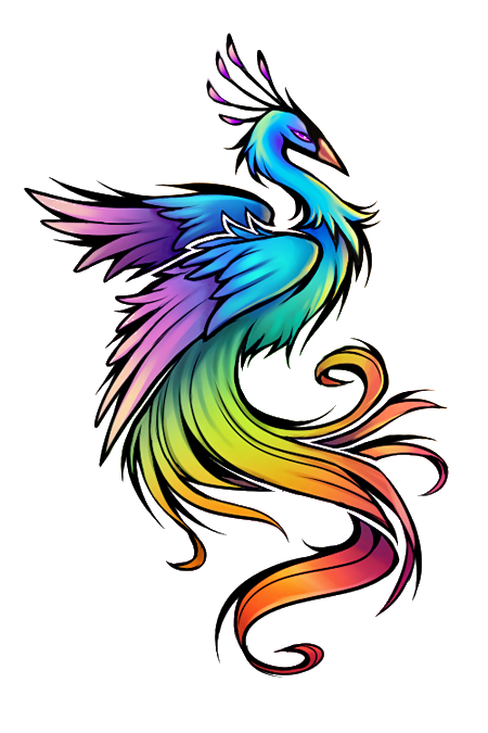 rainbow bird tattoo design tattoos piercings pinterest phoenix bird tattoos tattoo. Black Bedroom Furniture Sets. Home Design Ideas