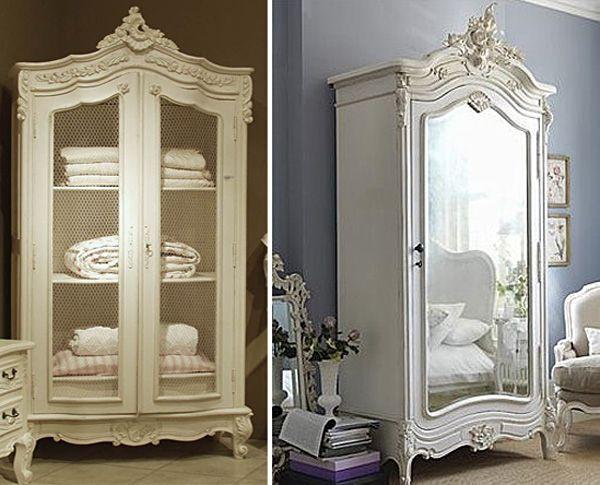 decorar con armarios antiguos | Malla gallinero, Armario francés y ...