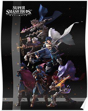 Super Smash Bros. Ultimate - Fire Emblem Poster