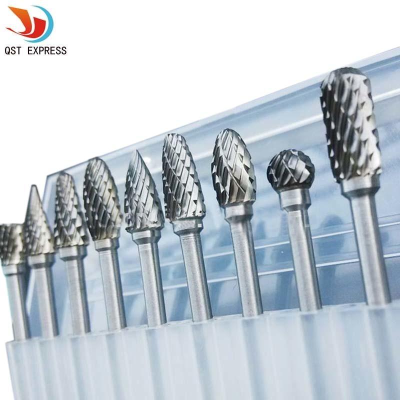 Tungsten Carbide Metal Cutting Carving Milling Grinding Burr Set For Dremel Tool