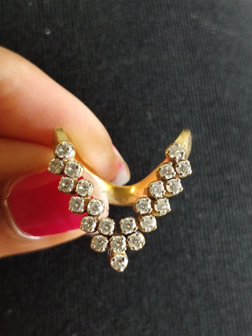 Mangalore bunt traditional V shape ring | Gold jewellery ...