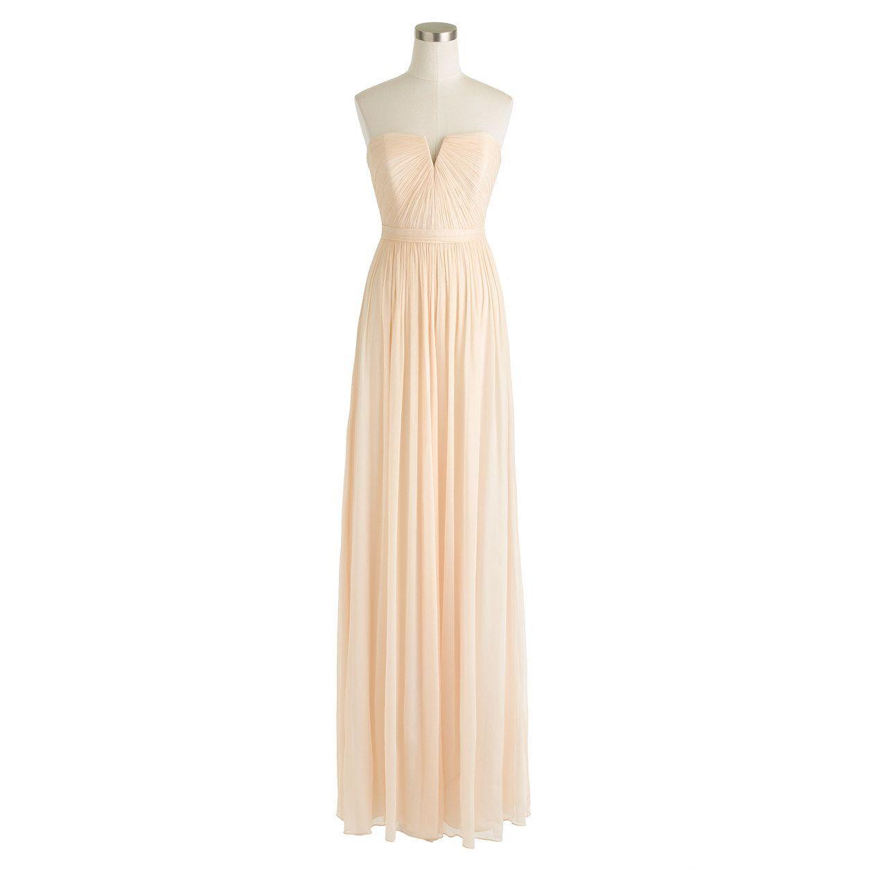 Kp wedding nadia long dress in silk chiffon silk chiffon j