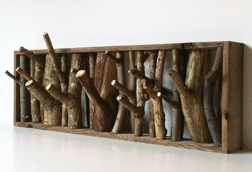 Tronco appendiabiti in legno design fai da te | fai da te casa ...